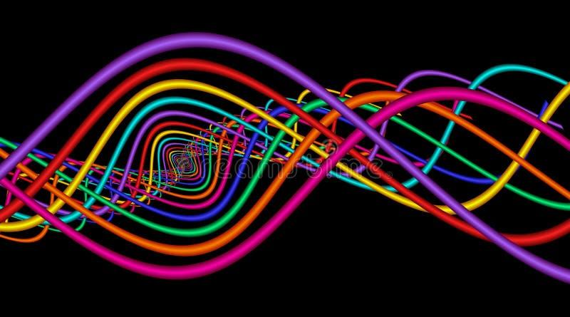 抽象曲线正弦 库存例证
