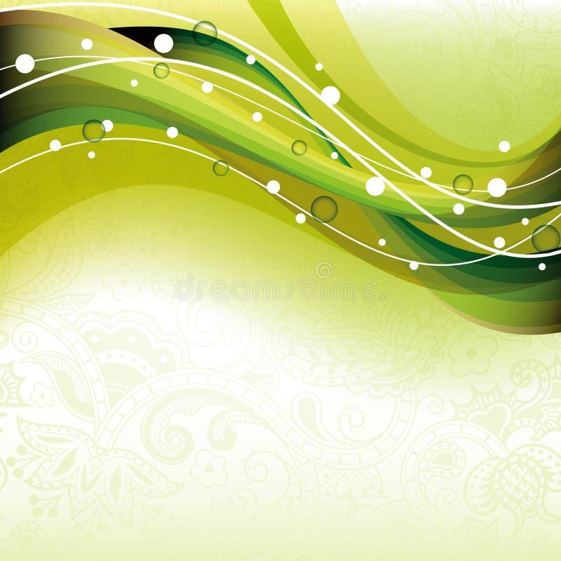 抽象曲线绿色 向量例证