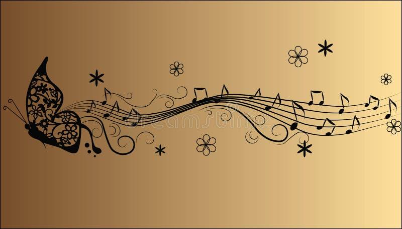 抽象曲调音乐笔记 皇族释放例证