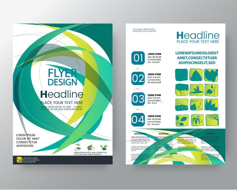 抽象最小的几何圆的圈子形状设计背景模板海报传染媒介小册子飞行物设计版面templa 向量例证