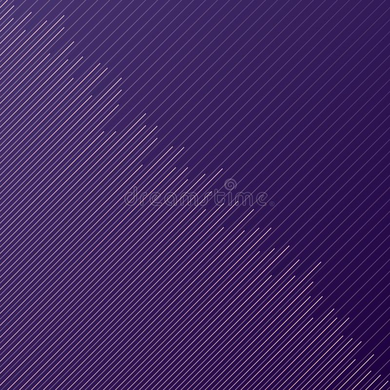 抽象最小的设计条纹和对角线在pur的样式 皇族释放例证