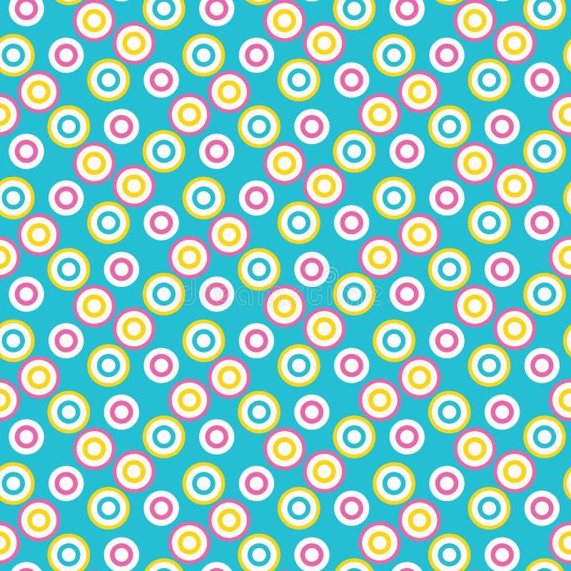 抽象有点的目标圈子 传染媒介样式无缝的背景 手拉的织地不很细样式 圆点扔了图表 库存例证