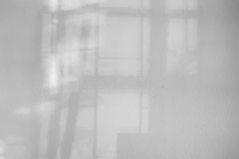 抽象有窗口阴影的,透视黑板纹理白色空的墙壁 免版税库存照片