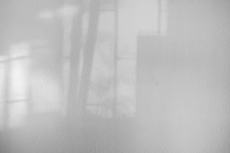 抽象有窗口阴影的,透视黑板纹理白色空的墙壁 免版税图库摄影