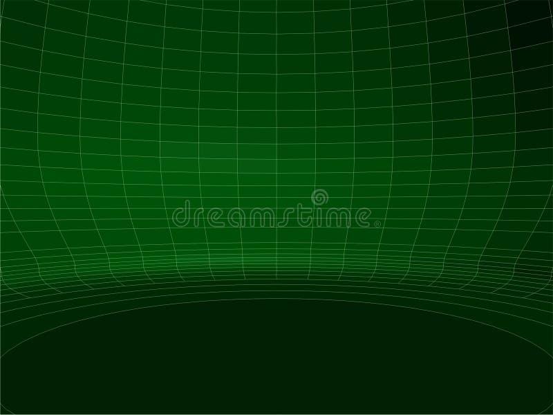 抽象有线通信网绿色圆的墙壁结构传染媒介02 库存照片
