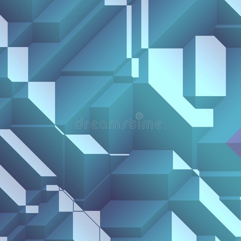 抽象有角几何 库存例证