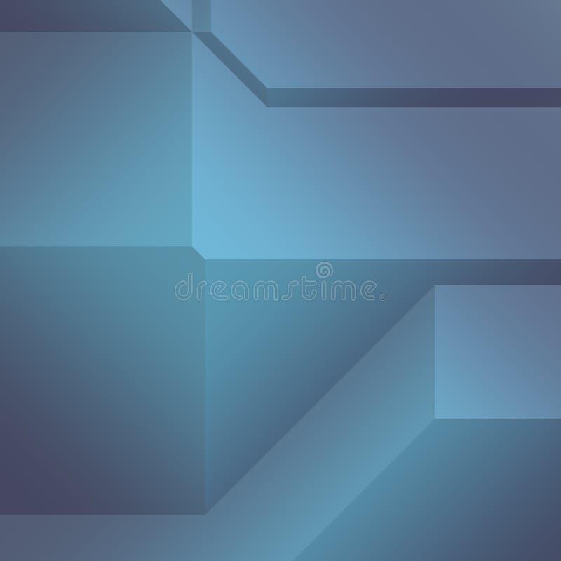 抽象有角几何 皇族释放例证
