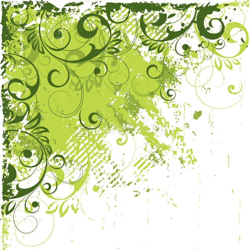 抽象有角度的绿色 向量例证