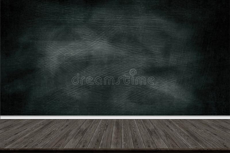 抽象木地板纹理和白垩在黑板摩擦了,文本或图画的,教育概念, 库存图片