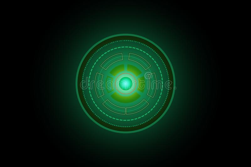 抽象未来圈子技术绿色概念背景例证 库存例证