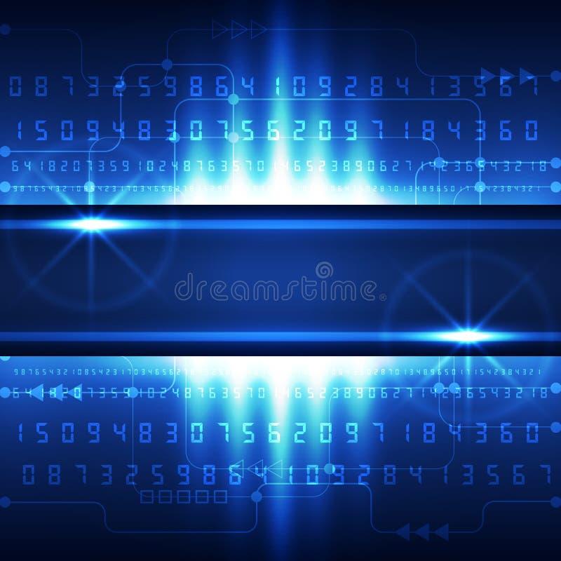 抽象未来技术数字式概念背景,传染媒介 皇族释放例证
