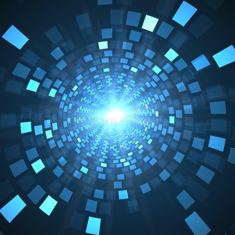 抽象未来技术概念,网络高科技背景 科学未来派设计 库存例证