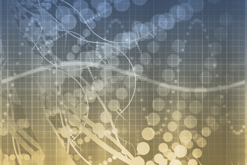 抽象未来派医学技术 库存例证