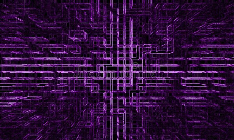抽象未来派墙纸 库存图片