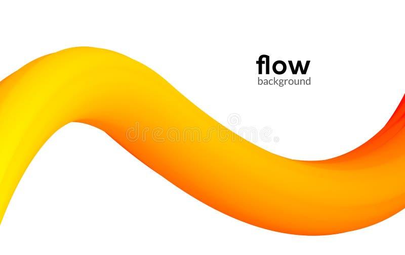 抽象未来派流程背景波动图式梯度飞行物设计动态现代液体横幅海报 皇族释放例证