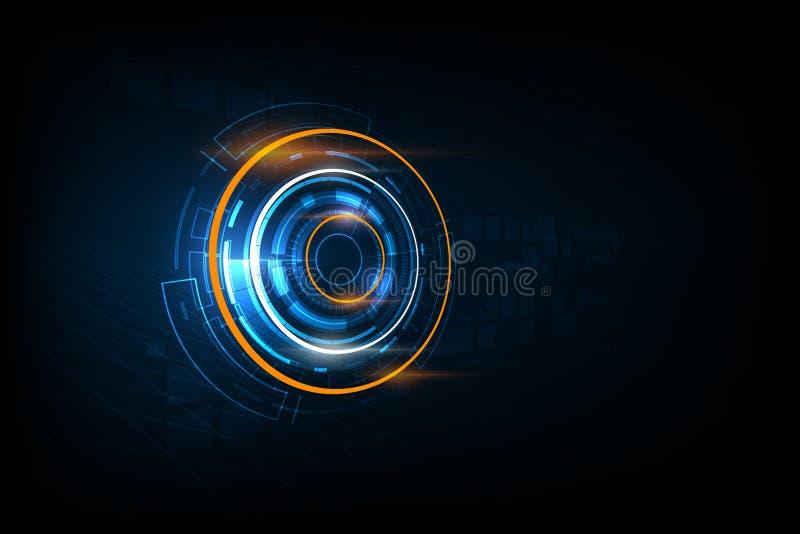 抽象未来派电子线路技术背景, ve 库存例证