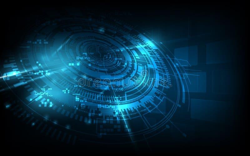 抽象未来派背景技术科学幻想小说概念 库存例证