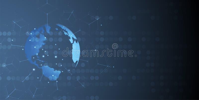 抽象未来派计算机科技企业背景 皇族释放例证