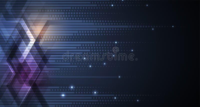 抽象未来派退色计算机科技企业背景 库存例证