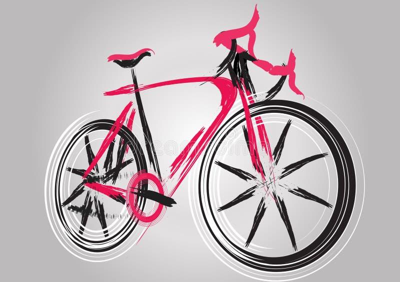 抽象未来自行车 图库摄影