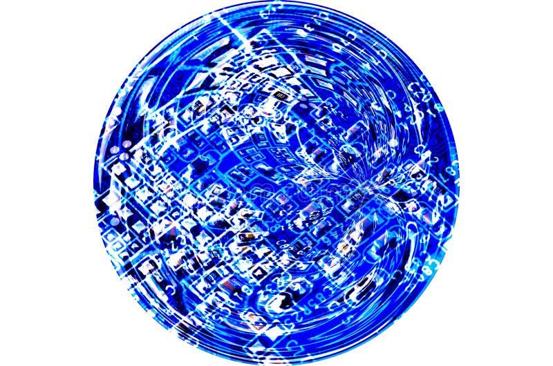 抽象未来派技术电路 图库摄影