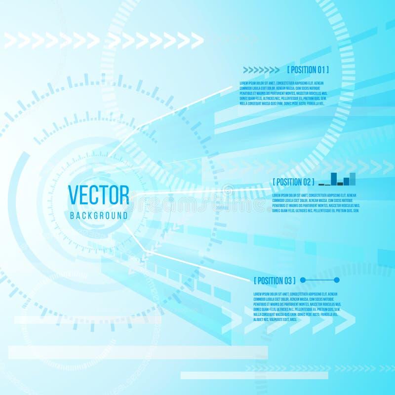 抽象未来派数字技术背景的Infographic 科学幻想小说例证传染媒介 库存例证