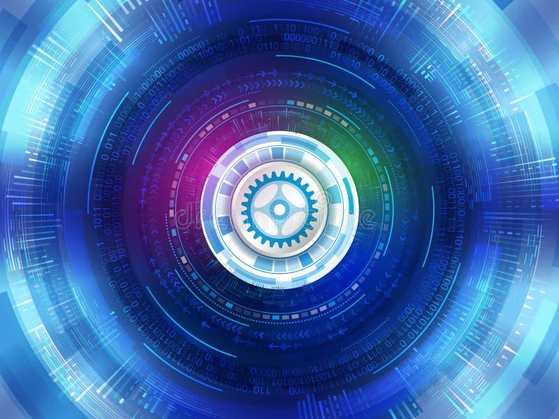 抽象未来派数字技术背景 数字式commu 库存例证