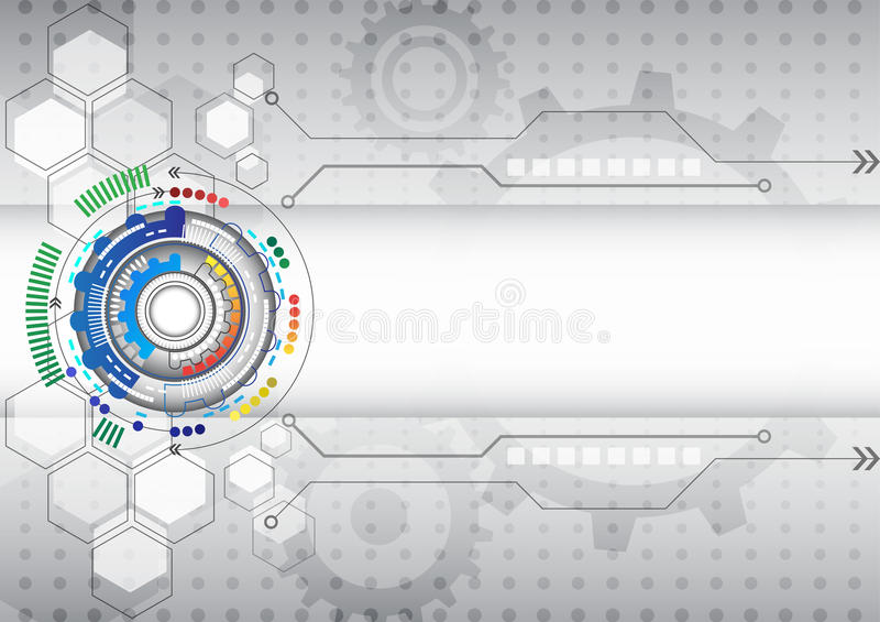 抽象未来派电路高计算机科技企业背景 向量例证