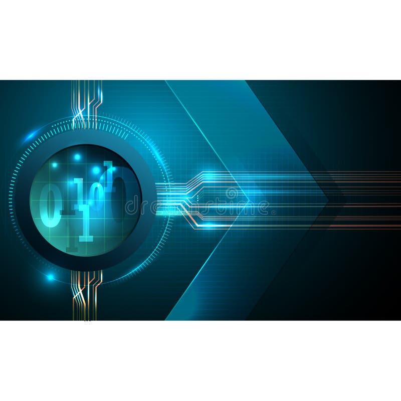 抽象未来派退色计算机科技企业背景 向量例证
