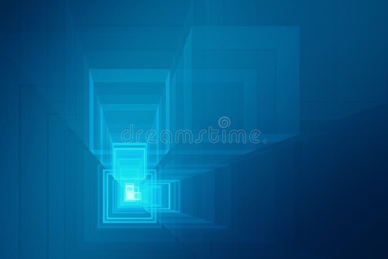 抽象未来派3D背景 皇族释放例证
