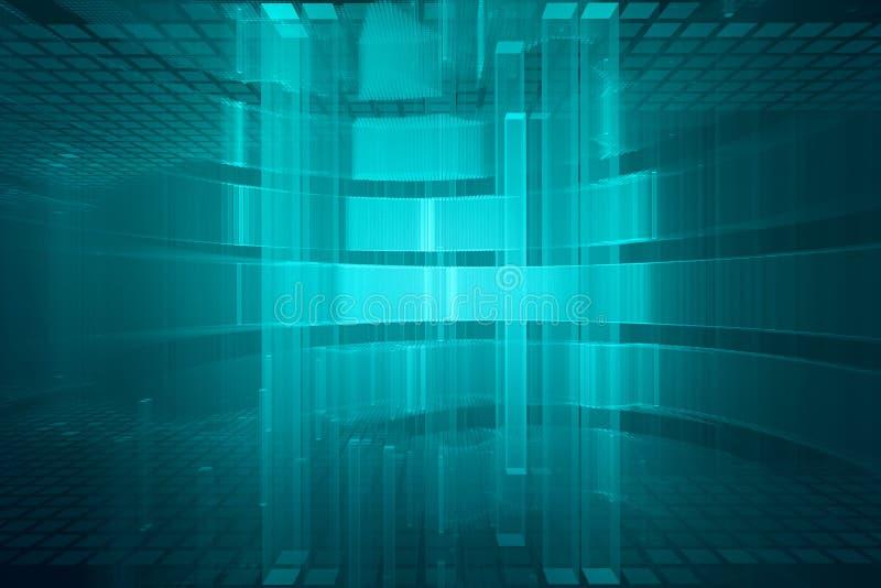 抽象未来派3D背景 向量例证
