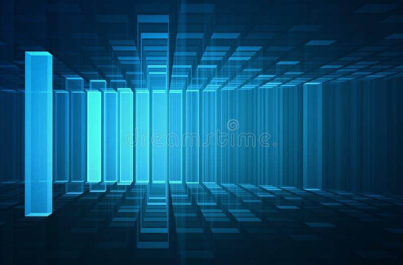 抽象未来派3D背景 库存例证