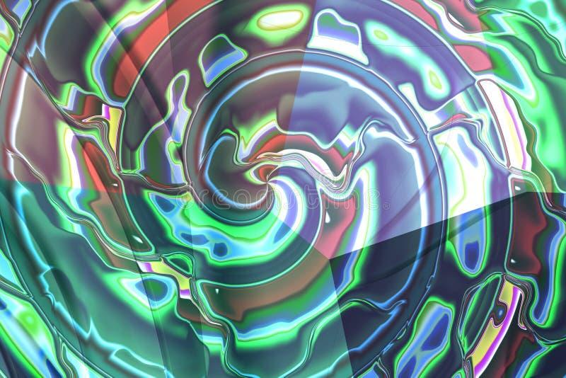 抽象构成螺旋 免版税库存照片