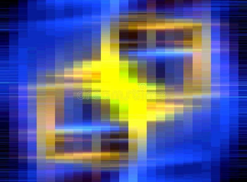 抽象柔光,蓝色黄色颜色,形状,图表 抽象背景纹理 向量例证