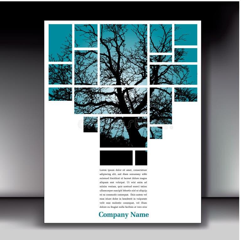 抽象树背景 皇族释放例证