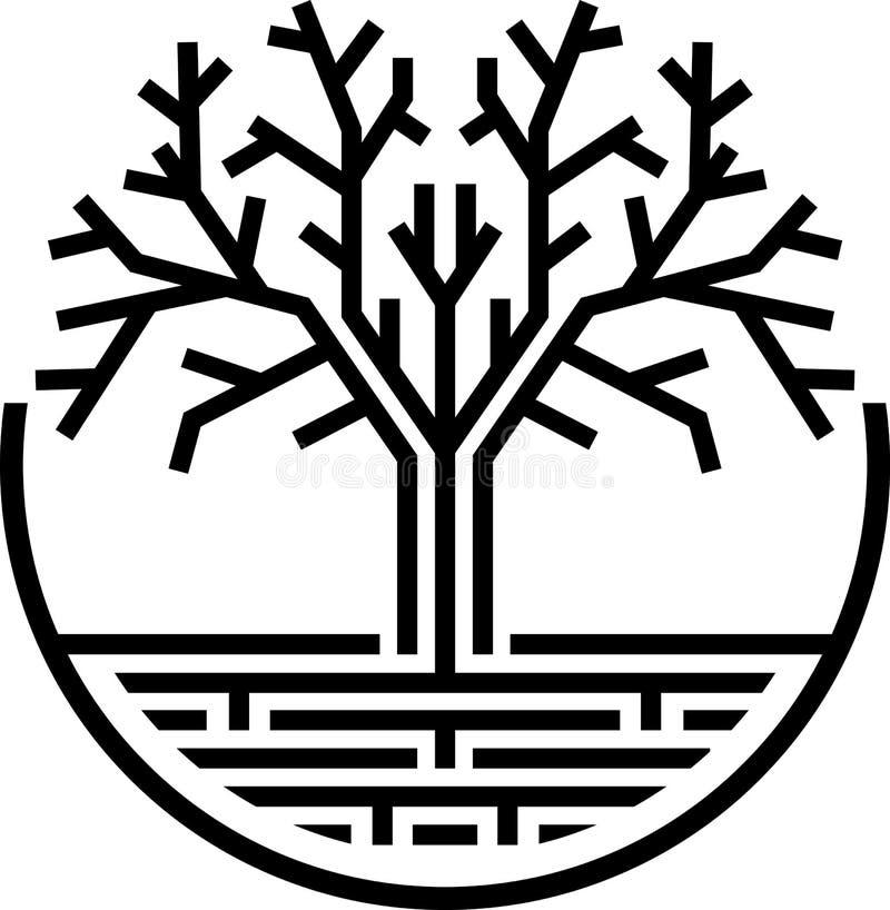 抽象树 库存例证