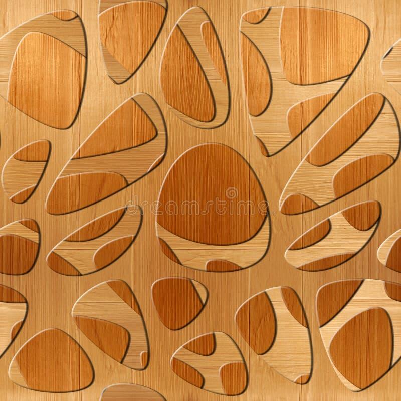 抽象样式突触-无缝的背景-木纹理 库存例证