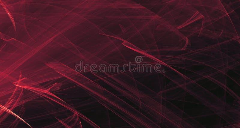 抽象桃红色和紫色光发光,射线,在黑暗的背景的形状 向量例证