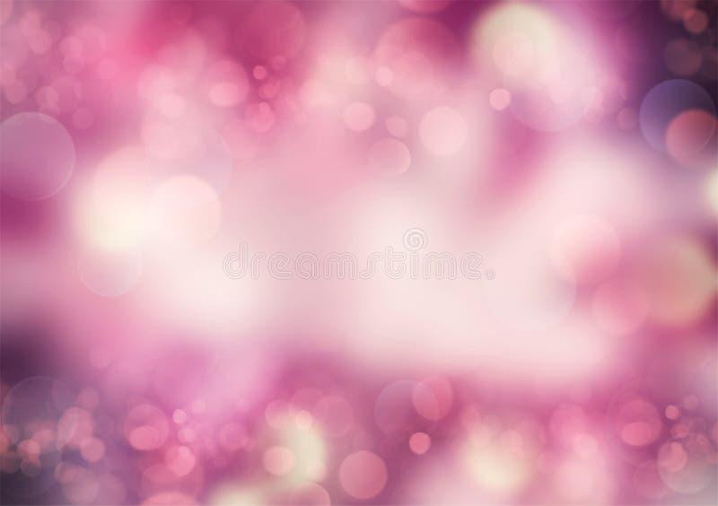 抽象桃红色紫色下落 向量例证