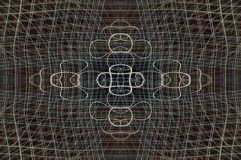 抽象框架电汇 皇族释放例证