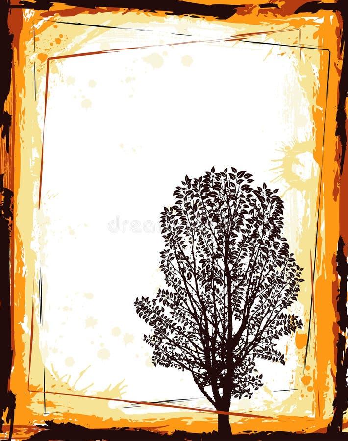 抽象框架结构树 皇族释放例证