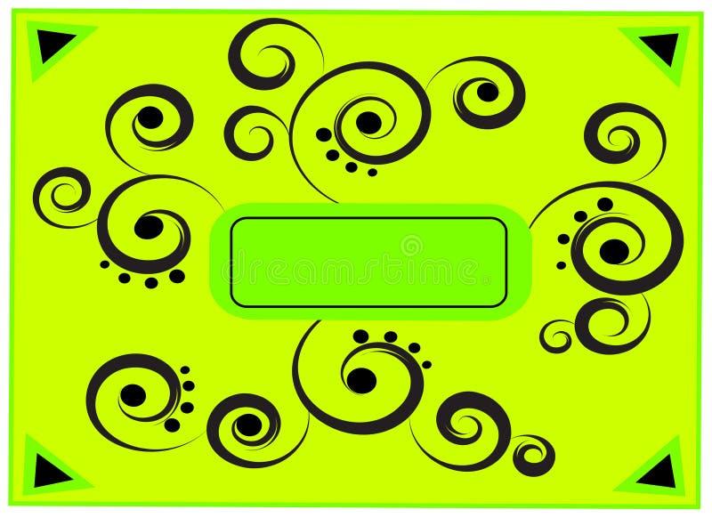 抽象框架绿色 皇族释放例证