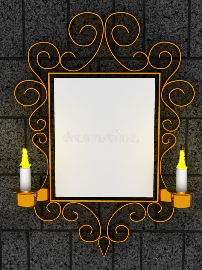 抽象框架装饰品 皇族释放例证