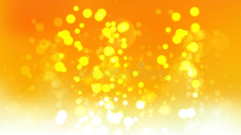 抽象桔子和黄色模糊的光背景例证 库存例证