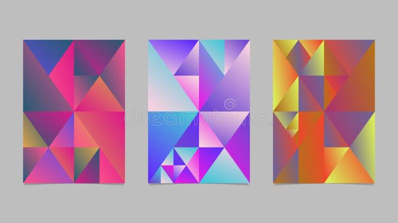 抽象梯度三角马赛克页背景模板集合 向量例证