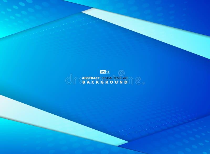 抽象梯度天空蔚蓝交叠设计有半音装饰背景 r 皇族释放例证