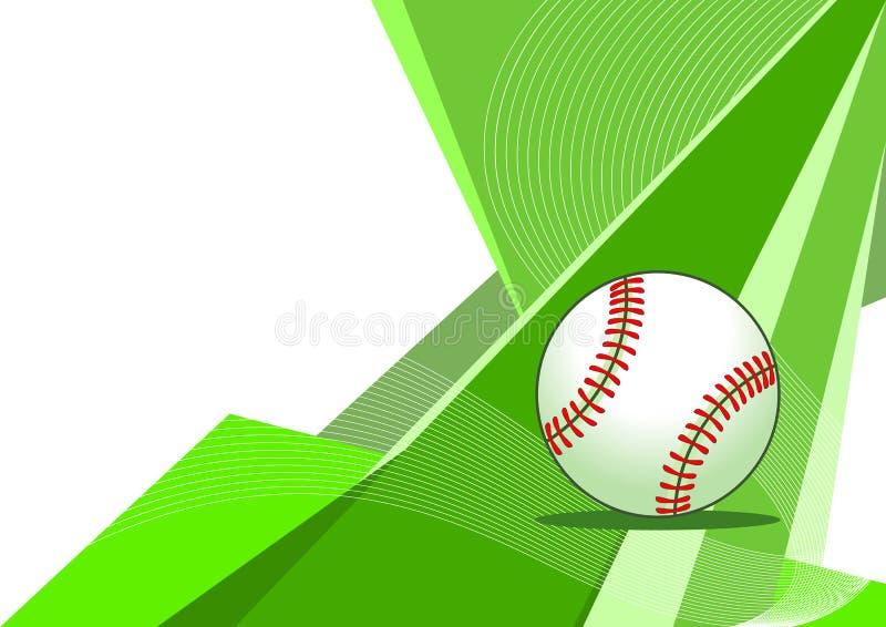 抽象棒球设计 皇族释放例证