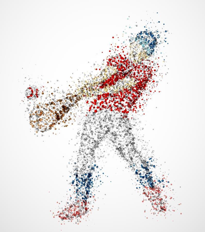 抽象棒球运动员 皇族释放例证