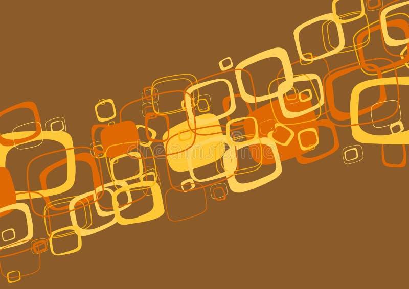 抽象棕色例证向量 库存例证