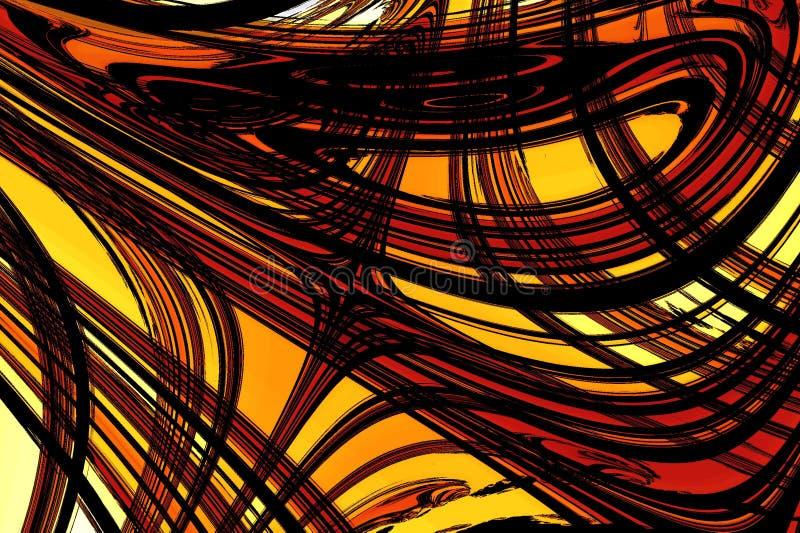 抽象棕色红色形状黄色 图库摄影